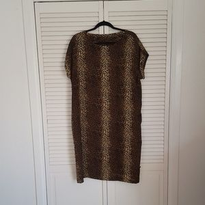 Cheetah Print Swimsuit Cover Up